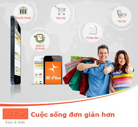 Giao diện ứng dụng M-Plus Mobile Banking